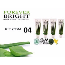 Kit Com 4 Gel Dental Forever Bright Toothgel - Sem Flúor!