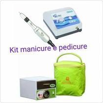 Kit Manicure Pedicure Micro Motor Beltec + Estufa Sterilifer
