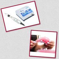Micro Motor Beltec Lb 100 + Kit Cuidado Com Unhas 5 Em 1