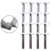 Haste De Canto Com 8 Isoladores Para Cerca Elétrica 4 Peças