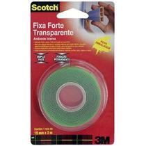 Fita Fixa Forte 3m Dupla Face 19mm Espelho Na Parede S/ Furo