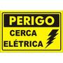100 Placa Advertência: Perigo Cerca Elétrica Plástico