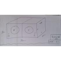 Caixa De Som P/ 2 Alto Falantes 7 Polegadas Dutada Mdf15mm