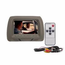 Encosto Cabeça Tela Monitor Lcd 7 Cinza D-lux Controle Remot