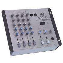 Mesa De Som Mixer Ll Audio Star 4 12v 4 Ch Som Automotivo