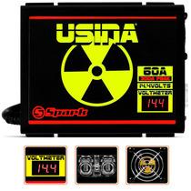 Fonte Usina Spark 60 Amper 12 14 Volts Voltimetro + Brindes