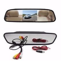 Espelho Retrovisor Interno Monitor Tft Lcd 4,3 Câmera De Ré