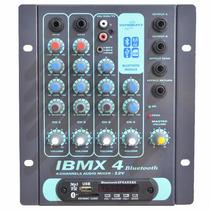 Mesa De Som 12v Isabeat Ibmx4 4 Canais Usb Bluetooth Fm Sd