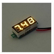 Mini Voltímetro Led Digital Medidor Bateria Amarelo Novidade
