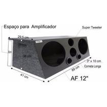 Caixa Trio Som Automotivo 2x12 (84 L)dutada+corn.+tweter(04)