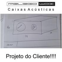 Caixa P/ Corneta + Super Tweeter Corneteira 1+1 Mdf 9mm