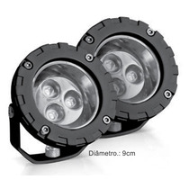 Farol Strobo Safetycar Power Led Branca Milha Redondo 3w