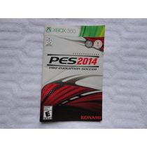 Manual Pes 2014 Pro Evolution Soccer Xbox 360