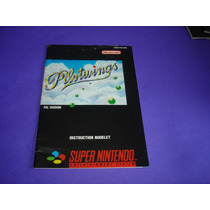 Super Nintendo : Manual Pilotwings Europeu Original