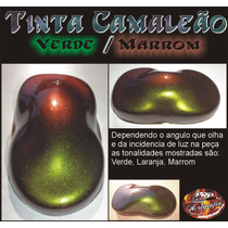 Tinta Camaleão Verde Laranja Marrom - Chameleon Paint