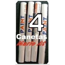 4 Caneta Para Pintar Pneus, Pneu > 4 Canetas Cor Branca