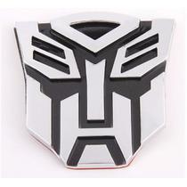 Emblema Logo 3d Transformers Autobots Cromado