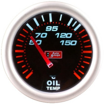 Auto Gauge Temperatura De Oleo Eletrico 52mm Smoke Series
