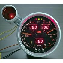 Auto Gauge Conta-giros 5 Pol. 127mm 6 Em 1 Black Shift Light