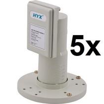 Kit 5 Lnb Antena Lnbf Multiponto Banda C Hyx Original Novo
