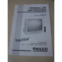 Manual De Instruções Tv Philco Pcm 1444 2044 2144