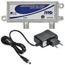 Amplificador De Sinal 30db Proal-3000 Proeletronic Catv Vhf