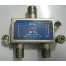 Chave Diplexer Misturador Sat + Tv C Ku Vhf Uhf