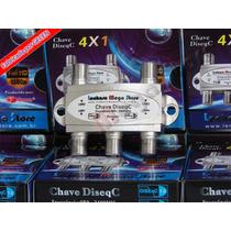 Chave Diseqc 4x1 Diseqc Switch - Gecen - Resistente A Água