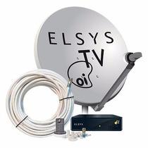 Kit Completo Elsys Oitv Livre Hd Etrs35 Antena 60cm Original