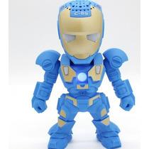 Caixa De Som Speaker Boneco Marvel Iron Man Homem De Ferro