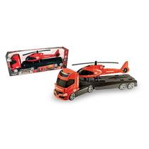 Caminhão Trans Aero Resgate - Rodas Livres - Orange Toys