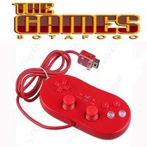 Nintendo Wii-controle Classic Vermelho