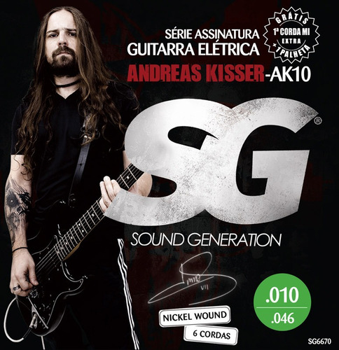 Encordoamento Sg Andreas Kisser P Guitarra