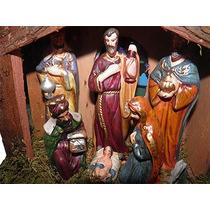 Presepio Menino Jesus Manjedoura Estabulo Led Natal Natalino