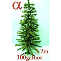 Árvore De Natal Verde Pinheiro 1,2mt 100galhos+brinde.alfa.