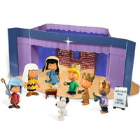 Playset Presepio Natal Peanults Turma Charlie Brown Snoopy