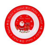 Kit C/ 6 Pratos Do Papai Noel P/ Decoração Da Ceia De Natal