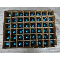 #17680 - Natal - 48 Bolinhas Vidro Azul!!!