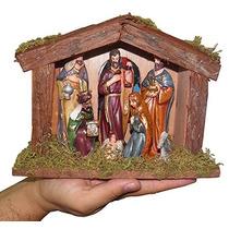 Presepio Natal Menino Jesus Natalino Manjedoura Estabulo Led