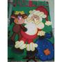 Placa De Natal Papai Noel Em Eva