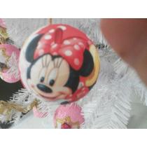Bola De Natal 8cm Minnie Mouse + Laço (24unid)