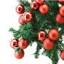 12 Bolas Decorativas Com Alças Para Pendurar, Cor Vermelha