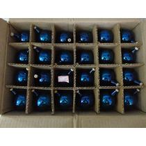 #17689 - Natal 24 Bolinhas Vidro Azul!!!