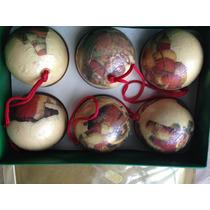 Bolas De Natal Decoradas Lindas,caixa Com 6 Psc