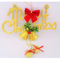 Decoração De Natal Enfeite Para Porta Natalina 3 Bolas Laço