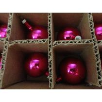 #17682 - Natal - 48 Bolinhas Vidro Rosa Pink!!!