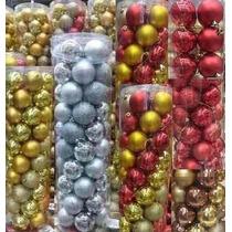 Bolas De Natal Várias Cores (pack Com 50 Bolas) 7cm Por 60mm