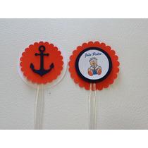Tag Para Cupcake - Tema Festa Ursinho Marinheiro