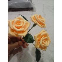 Rosas Biscuit Feita À Mao,4cm,p/arranjos Mesas,casamento
