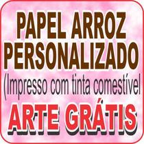 Papel Arroz Comestível Personalizado C/foto Tema Arte Grátis
